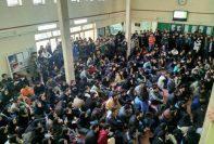 تجمع اعتراضی دانشجویان شهیدبهشتی